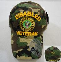Licensed US Army DISABLED VETERAN Hat *Camo Only